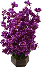 Bageecha Garden's Artificial Purple Blossom Flowers(12 Inchs/ 30 cms) with wooden pot