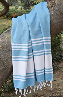 Light & Pro Beach Towels 2Pack, Cotton Beach Towel, Turkins Towel, Beach Towel, Turkish Beach Towel, Gym Towels, Thin Towels,Thin Camping Bath, Blue Blanket, Fouta Towels 100% Cotton-36x70-Royal Blue