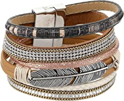 M&F Western - Multi-Layer Feather Bracelet