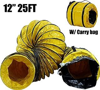 MOUNTO 25FT PVC Flexible Duct Hosing for Exhaust Fan (12inch)