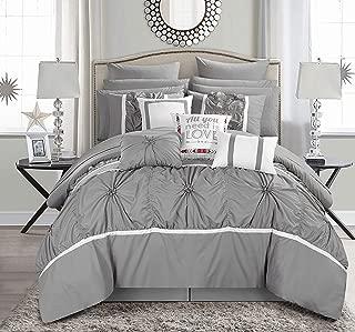Chic Home Ashville 16 Comforter Set, King, Silver, Piece