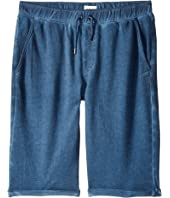Hudson Kids - Pigment Dye Pull-On Shorts in Malibu Blue (Big Kids)