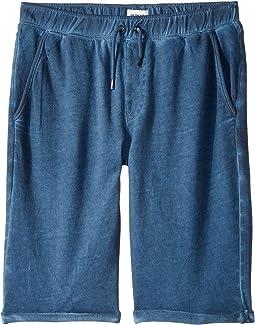 Pigment Dye Pull-On Shorts in Malibu Blue (Big Kids)