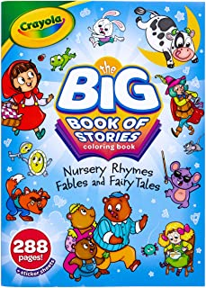Crayola Coloring Book Set, Big Book of Stories, 288 Coloring Pages, Gift for Kids, Age 3, 4, 5, 6