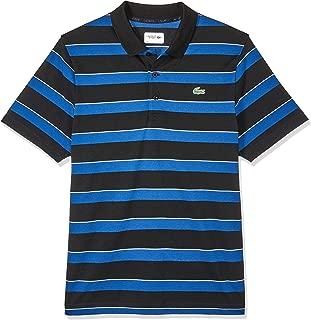 Lacoste Men's Stripe Polo, Black/Inkwell