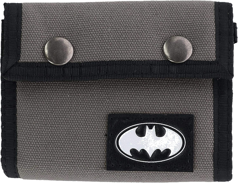 DC Comics Batman Canvas Snap Trifold Wallet