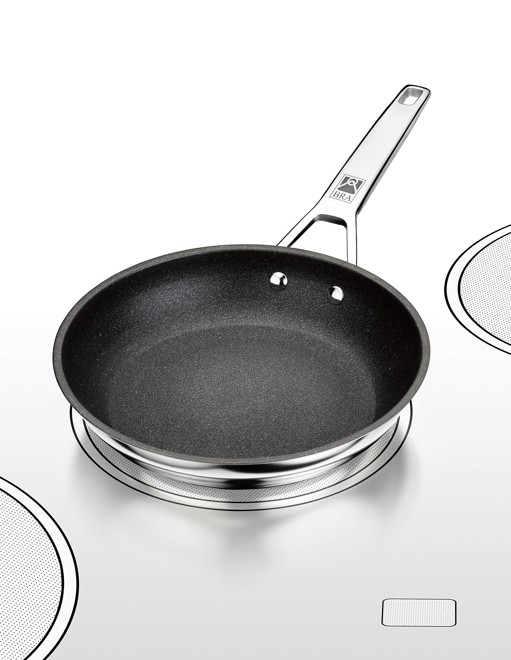 BRA Connect Sartén acero inoxidable con antiadherente Profile y tecnología Bi-Clad, apta para todo tipo de cocinas incluida inducción, libre de PFOA, 20 cm, Aluminio Fundido: Amazon.es: Hogar