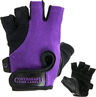 Sponsored Ad - Contraband Pink Label 5057 Womens Basic Lifting Gloves (Pair) - Light-Medium Padded Durable Leather Palm Fi...
