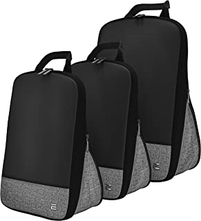 Compression Cubes for Traveling Packing Travel Organizer Set of 3 Cube Bags Unique & Lovely Design Durable Quality for Lug...