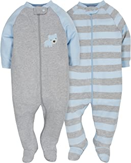 GERBER Baby Boys' 2-Pack Organic Sleep 'N Play