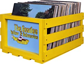 Crosley AC1004A-YS Record Storage Crate Holds up to 75 Albums, The Beatles Yellow Submarine
