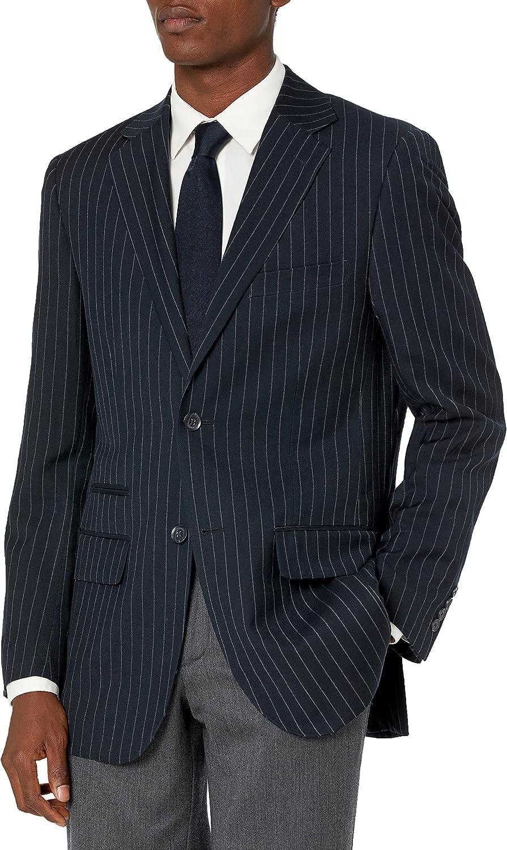 Steve Harvey Men's Chalk Stripe Regular Fit Suit Separate Jacket