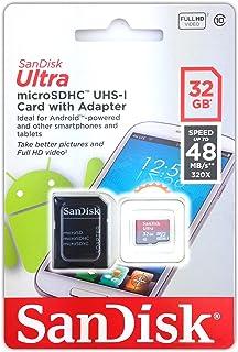 Tarjeta de memoria para Vtech Kidizoom Touch, cámara - Sandisk Ultra 32 GB MicroSDHC, Micro SD, Secure Digital Class 10 UHS-I - adaptador incluye chip de memoria, ampliación de memoria