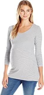 Ripe Maternity Women's Mini Stripe Nursing Tube Tee