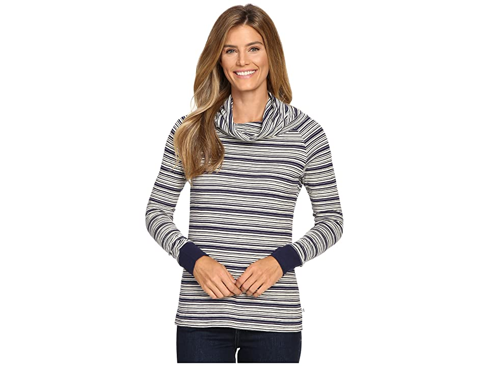 Toad&Co Stripe Out Boat Twist Tee (Deep Navy Stripe) Women