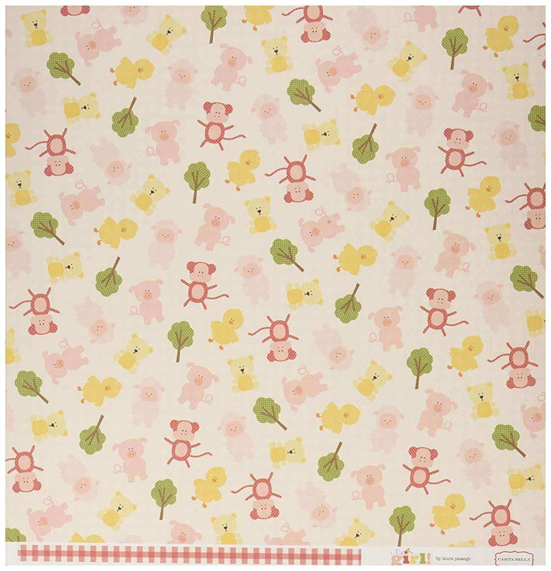 Echo Park Paper CBIG51006 It's A Girl Double-Sided Cardstock (25 Sheets Per Pack), 12