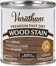 Varathane 262024 Premium Fast Dry Wood Stain, Half Pint, Early American