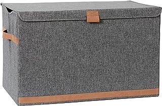 LOVE !T STORE !T Premium opbergkist, extra grote kist met deksel, opbergbox met stoffen bekleding, 62 x 37,5 x 39 cm, extr...