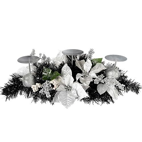 Silver Christmas Table Decorations Amazon Co Uk