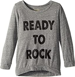 The Original Retro Brand Kids - Ready To Rock 3/4 Tri-Blend Pullover (Big Kids)