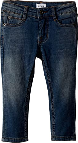 Hudson Kids - Jagger Slim Straight - Knit Denim in Beaten Blue (Infant)