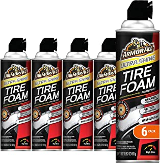 Armor All 14900 Tire Foam Ultra Shine, 18-Fluid Ounce Cans (Pack of 6)