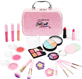 AstarX 23Pcs Makeup Toys for Kids,Real Washable Cosmetics...