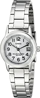 Casio Women's LTP-S100D-7BVCF Easy-To-Read Solar Powered Stainless Steel Watch