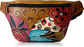 Anna by Anuschka Women's Genuine Leather Fanny Pack | Hand Painted Original Artwork | Tribal Potpourri