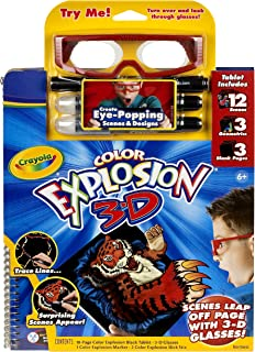 Crayola Color Explosion 3-D Coloring Tablet & Glasses