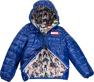 Avengers Boys Ultralight Hooded Puffer Jacket, Size 4-7,...