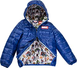 Marvel Avengers Boys Ultralight Hooded Puffer Jacket, Size 4-7, Official Licensed Product