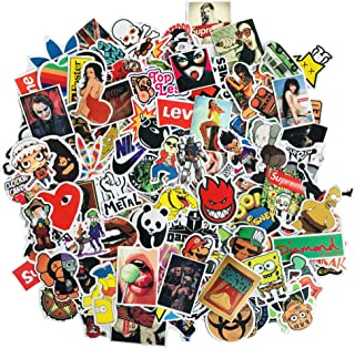 Vinyl Multiple Theme 50-700 Pack Skateboard Stickers Cool Removable Wall Decals for Phone Pad Laptop Bumper Computer Cup (200Pcs)