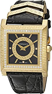 Women's VQF050015 DV-25 Analog Display Swiss Quartz Black Watch