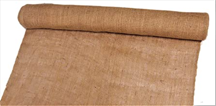 "AAYU 36"" X 8-Yards Burlap Fabric, Disposable Jute Planter Liner | Rolls 36 inch X 8 Yards Garden Fabric Weed Barrier Heavy (7oz) Landscape Edging Window Planters"