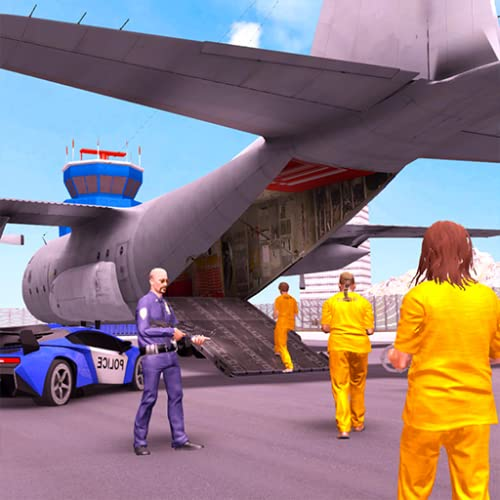 Crime Town Jail Prisoners Transporter Plane : Police Bus Driving Pro Parking Adventure Robber Car Chase Rush Simulator Best Free Game 2019