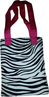 Lunar Lily Reusable Insulated Lunch Tote Bag Floral Geometic Paisley (Zebra)