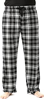 Ultra Soft Fleece Men's Plaid Pajama Pants with Pockets