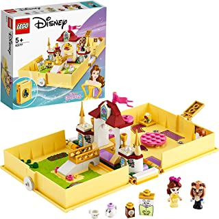 LEGO 43177 Disney Princess Belles Sagoboksäventyr, Öppningsbar Bok med Odjurets Slott