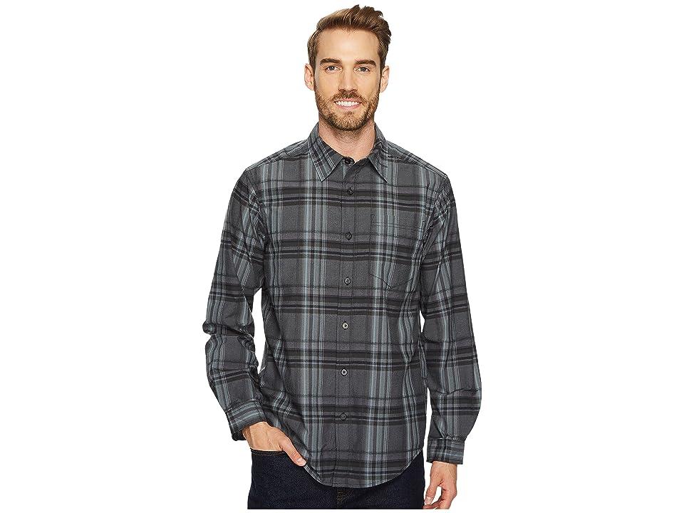 ExOfficio Kensington Plaid Long Sleeve Shirt (Black) Men