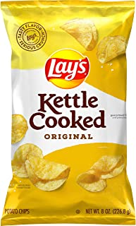 Lay's Kettle Cooked Potato Chips, Original, 8 Oz