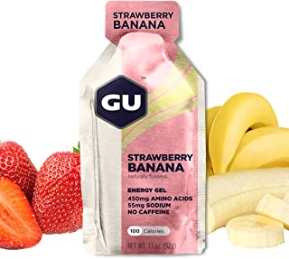 GU Energy Original Sports Nutrition Energy Gel, 24-Count, Strawberry Banana