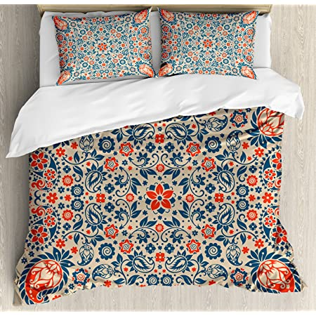 Lunarable Paisley Flat Sheet Soft Comfortable Top Sheet Decorative Bedding 1 Piece Persian Bohemian Design Pastel Vintage Eastern Folk Motif Classic Twin Size Charcoal Grey and Multicolor
