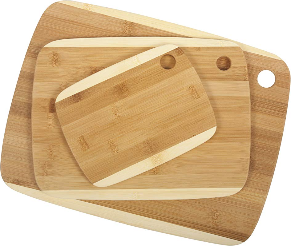 Core Bamboo Classic Two Tone Board Combo Pack Natural Small Medium Large