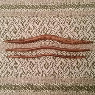 GrammasKnittedGifts Clickin'Stix East Indian Walnut Cable Needles
