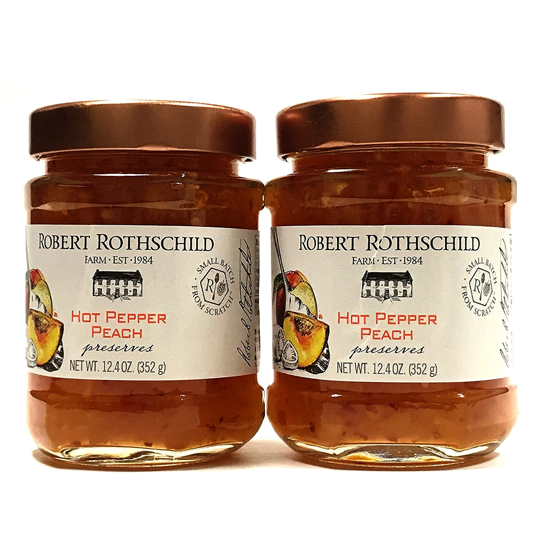 Robert Rothschild Hot Pepper Peach Ranking TOP2 Preserved 12.4 Pack of Popular standard oz 2