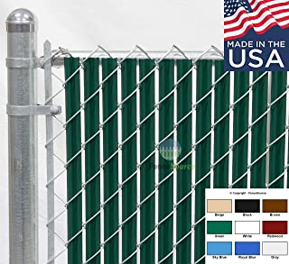 Fence Source Wave Slat™ (9 Colors) Single Wall Bottom Locking Privacy Slat for 4', 5', 6', 7' and 8' Chain Link Fence (6 ft, Green)