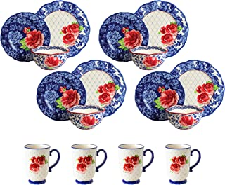 pioneer woman blue dishes