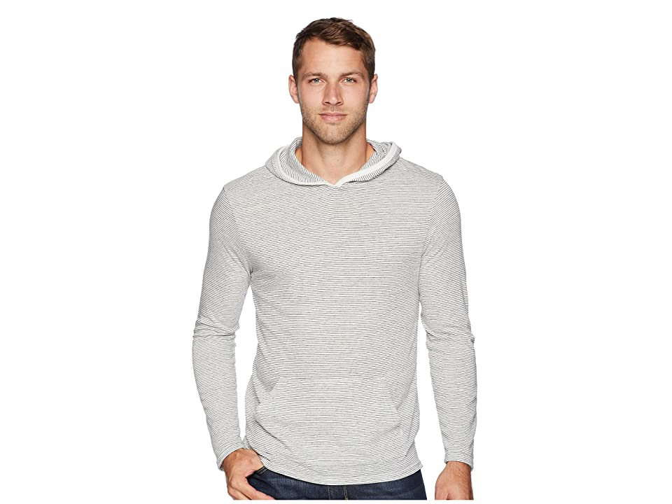 Alternative Marathon Pullover Hoodie (Eco Ivory Seaside Stripe) Men