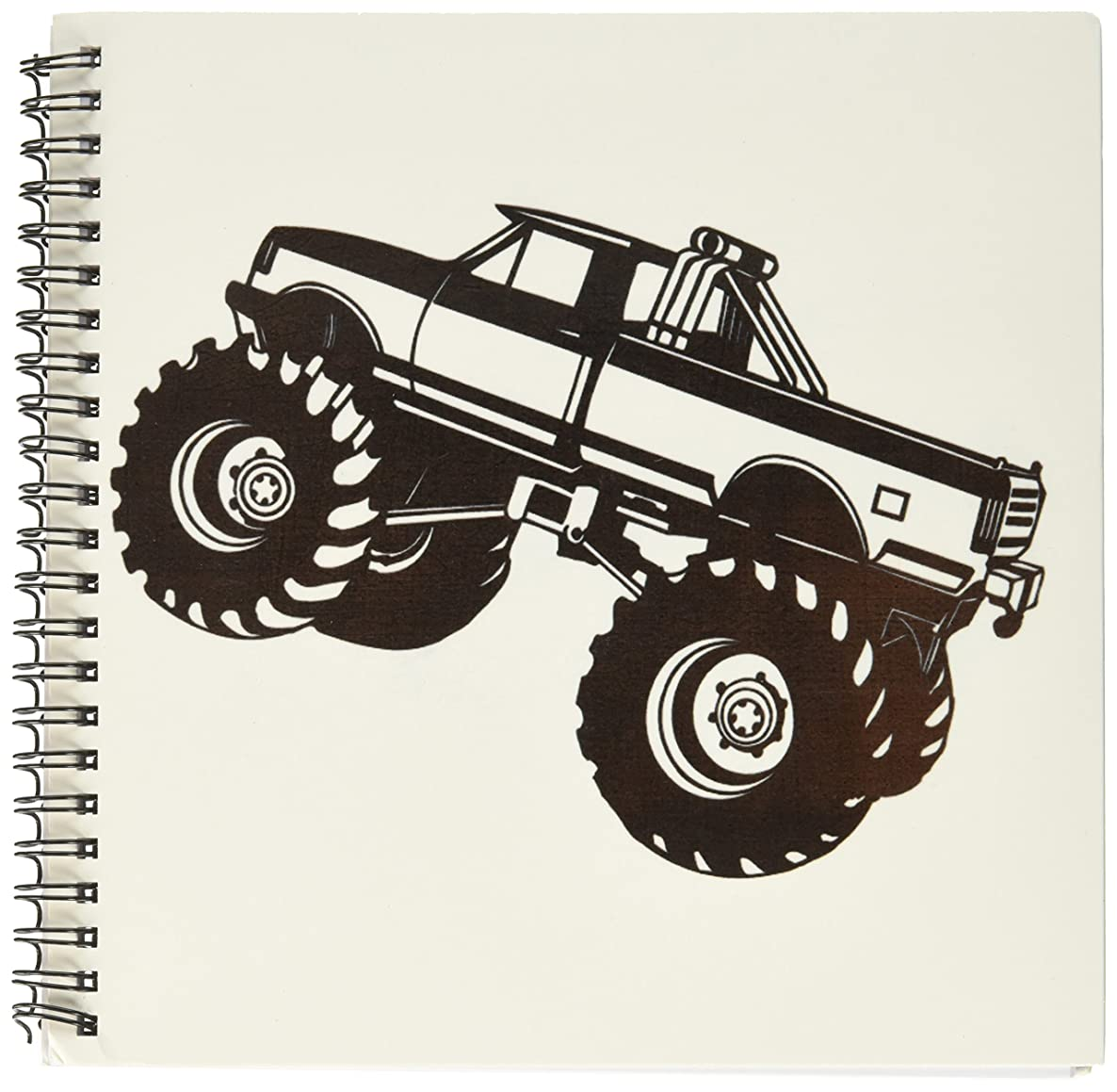 3dRose db_157406_1 Monster Truck. Black Monster Truck-Drawing Book, 8 by 8-Inch
